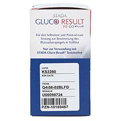 STADA Gluco Result To Go plus Blutzuckermes.mg/dl 1 Stück - Linke Seite