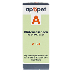 APOPET A Akut Blüteness.n.Dr.Bach Glob.vet. 12 Gramm - Rückseite