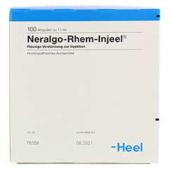 NERALGO Rhem Injeel Ampullen 100 Stück N3 - Rückseite