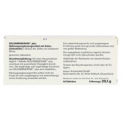 SELENMINERASE Plus Tabletten 50 Stück - Rückseite
