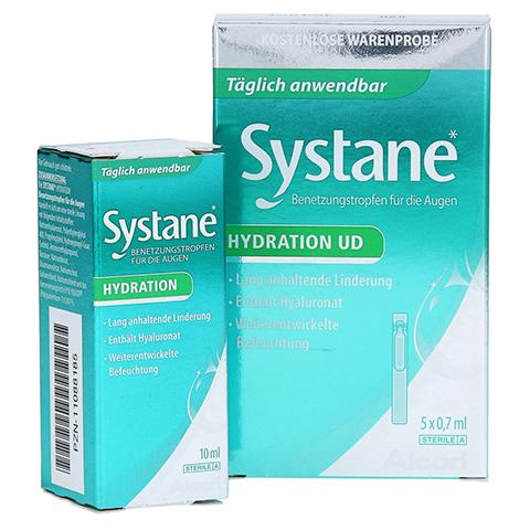 SYSTANE Hydration Benetzungstropfen für die Augen + gratis Systane Hydration UD 5 X 0,7 ml 10 Milliliter
