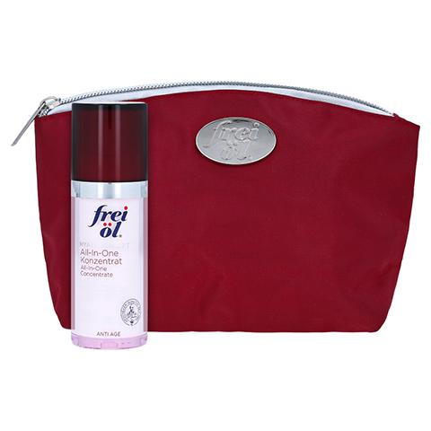 frei öl Anti Age Hyaluron Lift All-In-One Konzentrat + gratis frei öl Kosmetiktasche (dunkelrot) 30 Milliliter