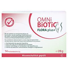 OMNi BiOTiC Flora plus+ Beutel 14x2 Gramm - Rückseite
