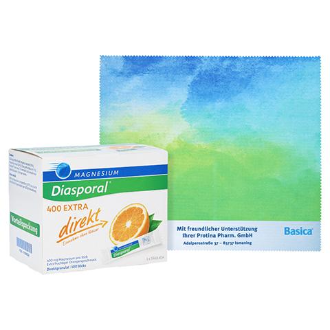 Magnesium Diasporal 400 Extra direkt Granulat + gratis Diasporal Mousepad 100 Stück