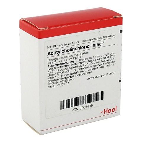 ACETYLCHOLINCHLORID Injeel Ampullen 10 Stück N1
