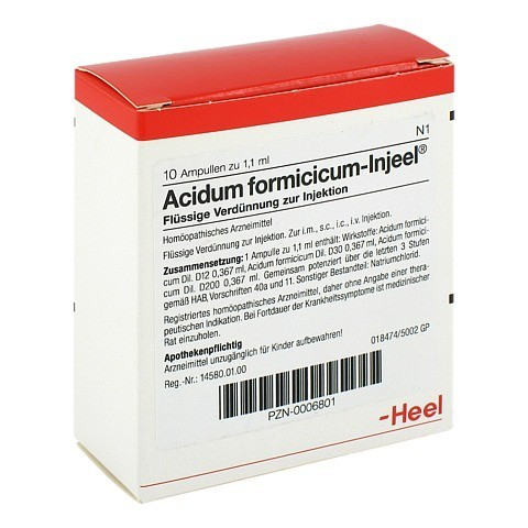 ACIDUM FORMICICUM INJEEL Ampullen 10 Stück N1