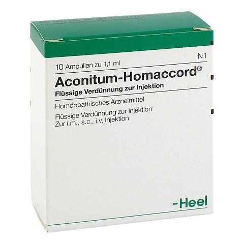 ACONITUM HOMACCORD Ampullen 10 Stück N1