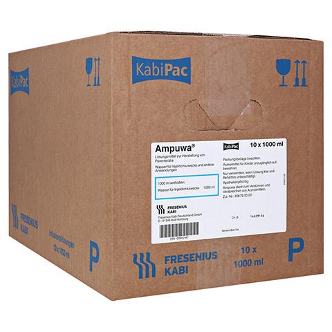 AMPUWA Plastikflasche Injektions-/Infusionslsg. 10x1000 Milliliter N2