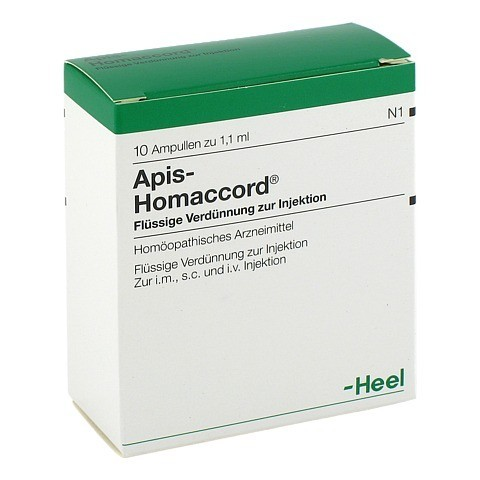 APIS HOMACCORD Ampullen 10 Stück N1