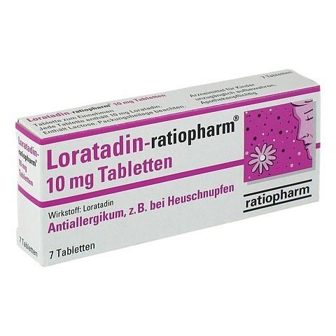 Loratadin-ratiopharm 10mg 7 Stück