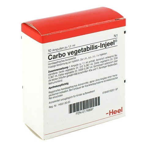 CARBO VEGETABILIS INJEEL Ampullen 10 Stück N1