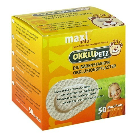 OKKLUPETZ Okklusionspflaster maxi natur 50 Stück