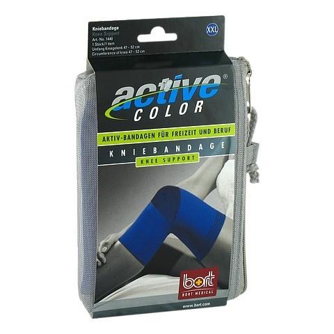 BORT ActiveColor Kniebandage xx-large blau 1 Stück