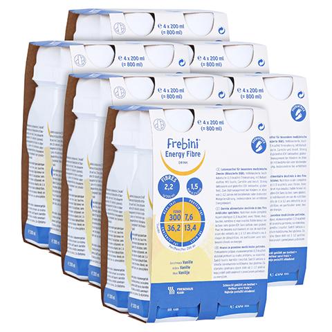 FREBINI Energy Fibre Vanille Trinkflasche 6x4x200 Milliliter