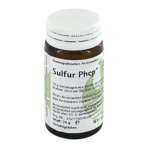 SULFUR PHCP Globuli 20 Gramm N1