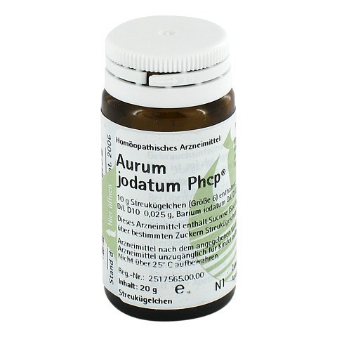 AURUM JODATUM PHCP Globuli 20 Gramm N1