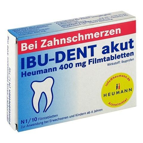 IBU-DENT akut Heumann 400mg 10 Stück N1