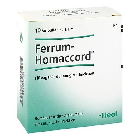 FERRUM HOMACCORD Ampullen 10 Stück N1