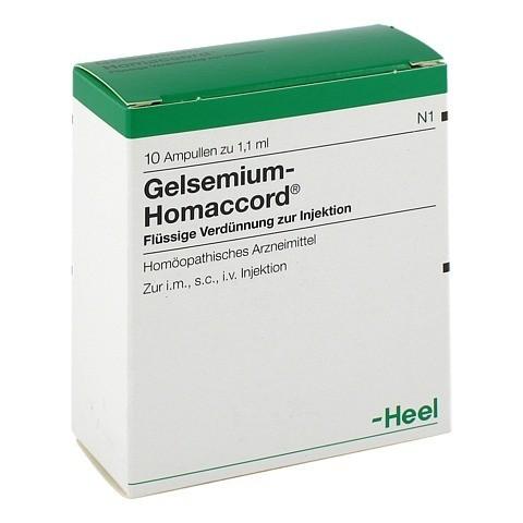 GELSEMIUM HOMACCORD Ampullen 10 Stück N1