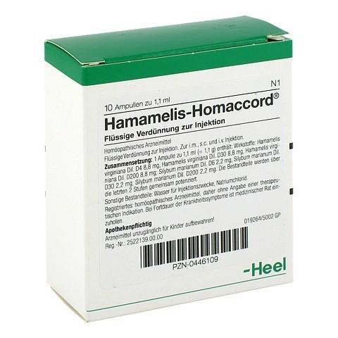 HAMAMELIS HOMACCORD Ampullen 10 Stück N1