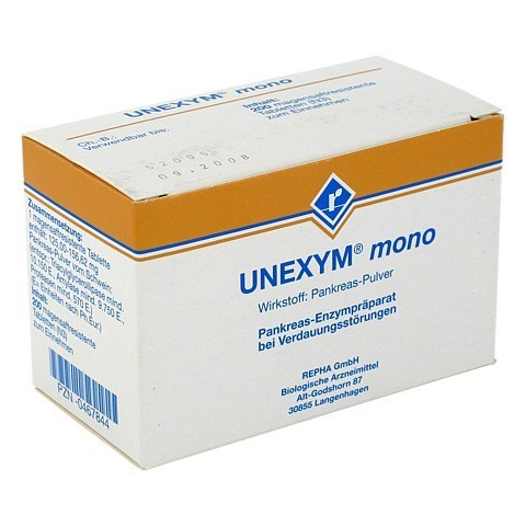 UNEXYM mono magensaftresistente Tabletten 200 Stück N3