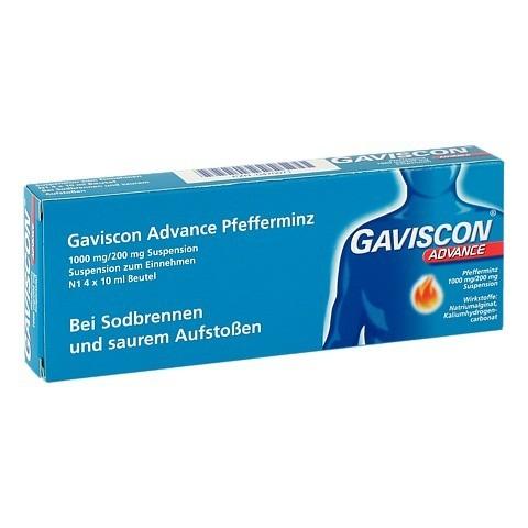 Gaviscon Advance Pfefferminz 1000mg/200mg Dosierbeutel 4x10 Milliliter