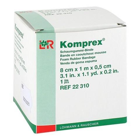 KOMPREX Schaumgummi Binde 8 cmx1 m Stärke 0,5 cm 1 Stück