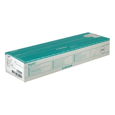 INJEKT Solo Spritze 2 ml LL zentrisch PVC-frei 100x2 Milliliter