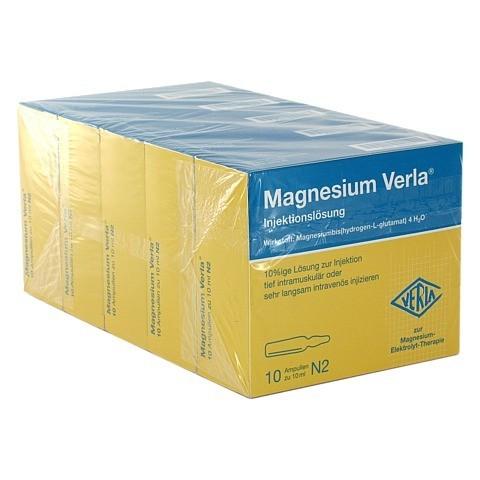 MAGNESIUM VERLA i.v./i.m. Injektionslösung 50x10 Milliliter
