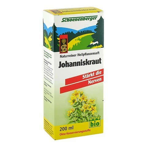 JOHANNISKRAUT SAFT Schoenenberger 200 Milliliter