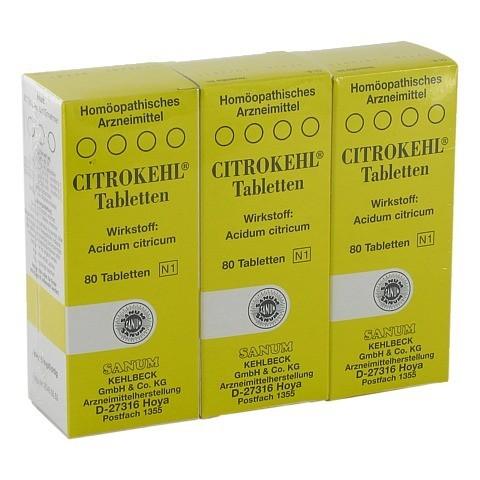 CITROKEHL Tabletten 3x80 Stück N2