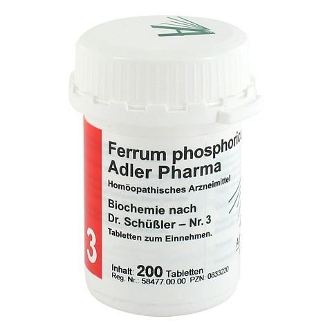 BIOCHEMIE Adler 3 Ferrum phosphoricum D 12 Tabl. 200 Stück