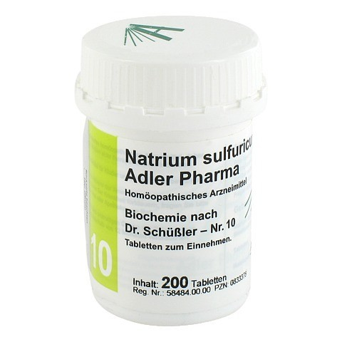 BIOCHEMIE Adler 10 Natrium sulfuricum D 6 Tabl. 200 Stück
