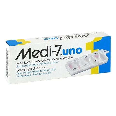 MEDI 7 uno Medikamentendosierer für 7 Tage weiß 1 Stück