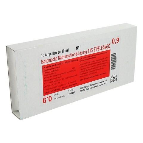 ISOTONISCHE NaCl Lösung 0,9% Eifelfango Inj.-Lsg. 10x10 Milliliter N2