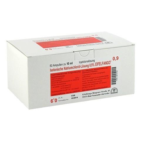 ISOTONISCHE NaCl Lösung 0,9% Eifelfango Inj.-Lsg. 50x10 Milliliter