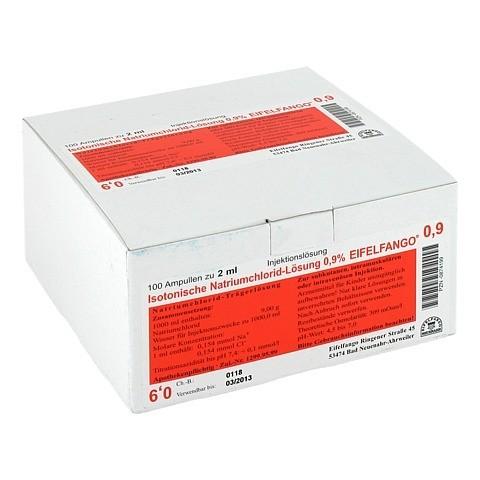 ISOTONISCHE NaCl Lösung 0,9% Eifelfango Inj.-Lsg. 100x2 Milliliter