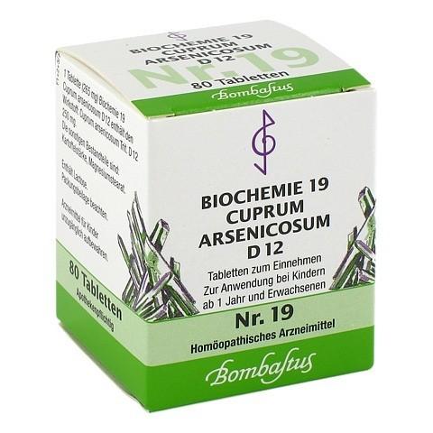 BIOCHEMIE 19 Cuprum arsenicosum D 12 Tabletten 80 Stück N1
