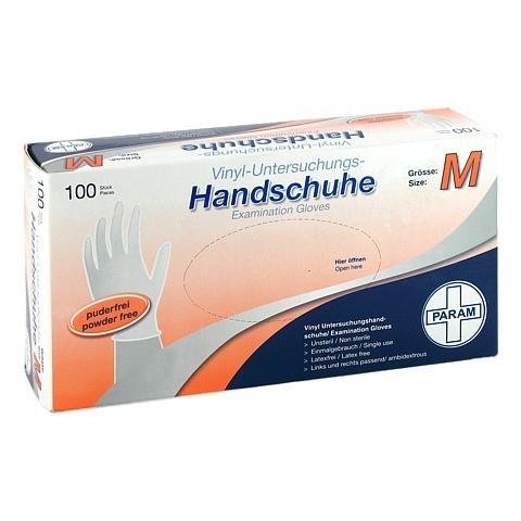 HANDSCHUHE Einmal Vinyl puderfrei M 100 Stück