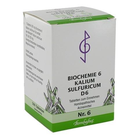 BIOCHEMIE 6 Kalium sulfuricum D 6 Tabletten 500 Stück N3