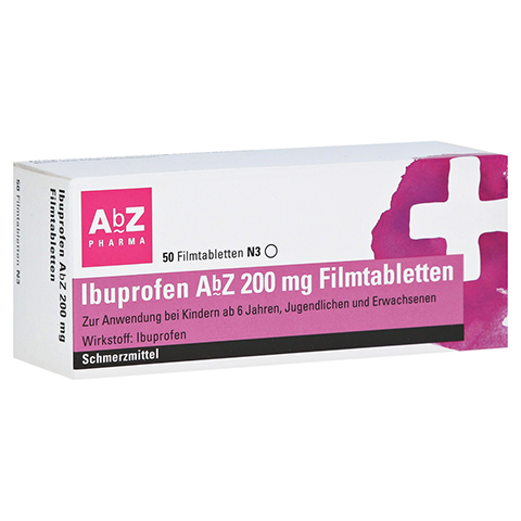 Ibuprofen AbZ 200mg 50 Stück N3