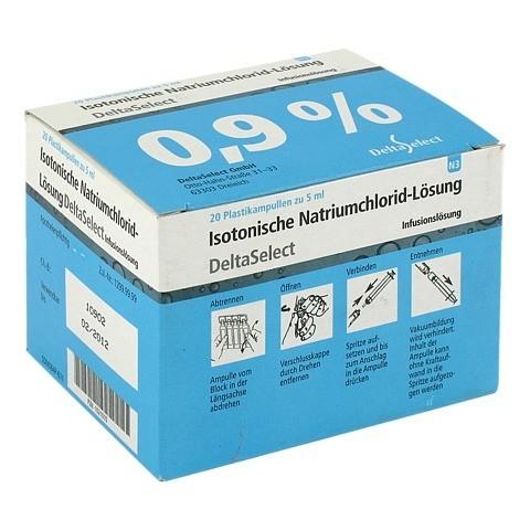 ISOTONISCHE NaCl 0,9% DELTAMEDICA Inf.-Lsg.Pl.Amp. 20x5 Milliliter N3
