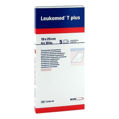 LEUKOMED transp.plus sterile Pflaster 10x25 cm 5 Stück