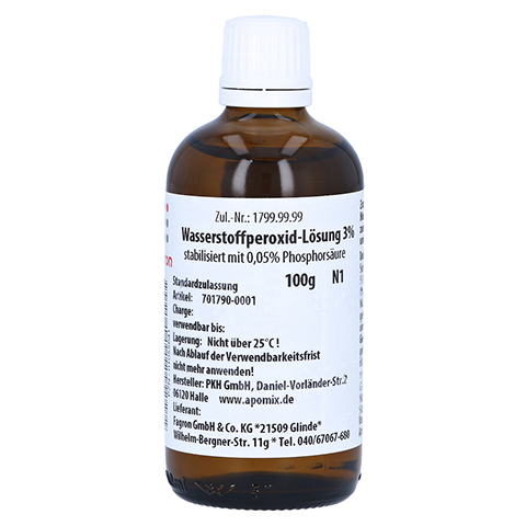 WASSERSTOFFPEROXID Lösung 3% 100 Gramm N1
