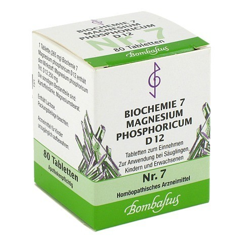 BIOCHEMIE 7 Magnesium phosphoricum D 12 Tabletten 80 Stück N1