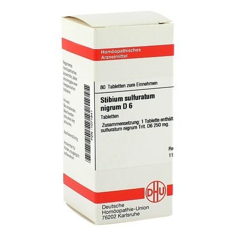 STIBIUM SULFURATUM NIGRUM D 6 Tabletten 80 Stück N1