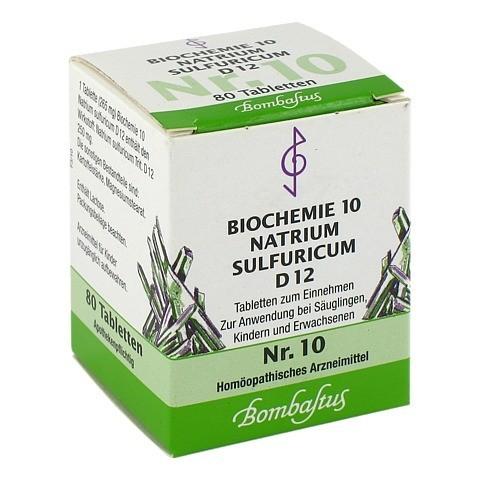 BIOCHEMIE 10 Natrium sulfuricum D 12 Tabletten 80 Stück N1