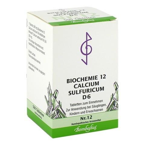 BIOCHEMIE 12 Calcium sulfuricum D 6 Tabletten 500 Stück N3