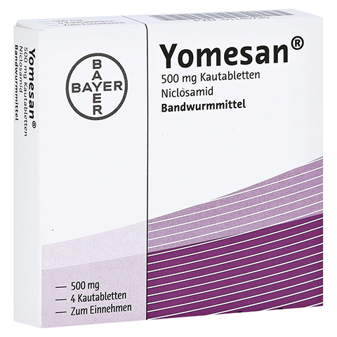 YOMESAN 500 mg Kautabletten 4 Stück
