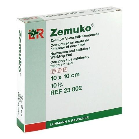 ZEMUKO Kompr.steril 10x10 cm 10 Stück